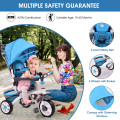 4-in-1 Detachable Baby Stroller Tricycle with Round Canopy
