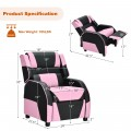 Kids Youth PU Leather Gaming Sofa Recliner with Headrest and Footrest