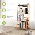 4-Tier Bamboo Plant Rack with Guardrails Stable and Space-Saving