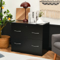 2-Drawer File Cabinet with Lock Hinging Bar Letter and Legal Size