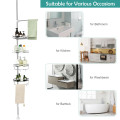 4-Tier Tension Shower Corner Caddy with 304 Stainless Steel