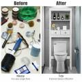 Toilet Space Saver Bathroom Organizer Storage Shelf with Drawers
