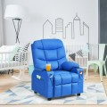 PU Leather Kids Recliner Chair with Cup Holders and Side Pockets