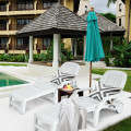 Adjustable Patio Sun Lounger with Weather Resistant Wheels