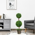 36 Inch Artificial Double Ball Tree Indoor and Outdoor UV Protection