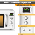 0.9 Cu.ft Retro Countertop Compact Microwave Oven