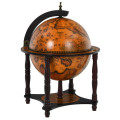 23 Inch Globe Wine Bar Stand for Dining Room and Living Room