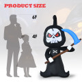 6 Feet Halloween Inflatable Decorations with Built-in LED Lights