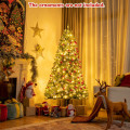 Artificial Hinged Christmas Tree with Remote-controlled Color-changing LED Lights