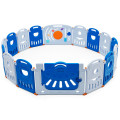 16-Panel Baby Playpen Safety Play Center with Lockable Gate