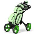 4 Wheels Golf Push Cart with Brake Scoreboard Adjustable Handle