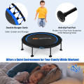 """47"""" Folding Trampoline with Safety Pad of Kids and Adults for Fitness Exercise"""