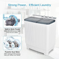 Portable Washing Machine 20lbs Washer and 8.5lbs Spinner with Built-in Drain Pump