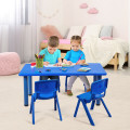 Kids Plastic Rectangular Learn and Play Table