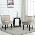Set of 2 Armless Upholstered Leisure Accent Chair