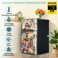 3.3 Cubic Feet Compact Refrigerator with Freezer 2 Reversible Door Mini Fridge