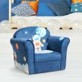 Kids Astronaut Armrest Upholstered Couch