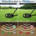 Adjustable High Accuracy Metal Detector with Waterproof Search Coil Headphone Bag