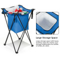 Portable Tub Cooler with Folding Stand and Carry Bag