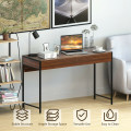 2-Drawer Computer Desk Study Table Home Office Writing Workstation