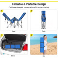 Folding Camping Cot with Side Storage Pocket Detachable Headrest