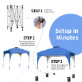 8' x 8' Outdoor Pop Up Tent Canopy Camping Sun Shelter with Roller Bag