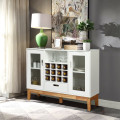 Wood Wine Storage Cabinet Sideboard Console Buffet Server