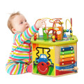 7-in-1 Wooden Activity Cube Toy