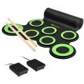 Set 7 Kit Electronic Roll Up Pads MIDI Drum