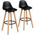 "2Psc Mid Century Barstool 28.5"" Dining Pub Chair"