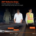 10 Pack High Visibility Reflective Safety Vest with Pockets and 2 inch Reflective Strips