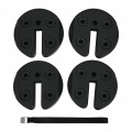 4Pcs 20Lbs Water Filled Weight Plates for Shade Umbrella