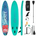 10 Feet Inflatable Stand Up Paddle Board with Backpack Leash Aluminum Paddle
