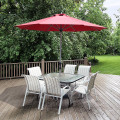 9' Patio Outdoor Market Umbrella with Aluminum Pole without Weight Base