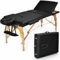 """3 Fold 84"""" L Portable Adjustable Massage Table with Carry Case"""