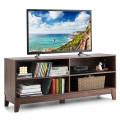 "58"" Modern Entertainment Media Center Wood TV Stand"