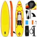 10.8'  Inflatable Kayak Set K1 1-Person Sit-On-Top Kayak with Oars
