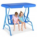 Outdoor Kids Patio Swing Bench with Canopy 2 Seats
