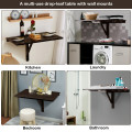 Space Saver Folding Wall-Mounted Drop-Leaf Table