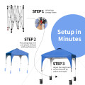 6.6 x 6.6 FT Pop Up Height Adjustable Canopy Tent with Roller Bag