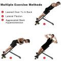 Adjustable Hyperextension Abdominal Exercise Back Bench