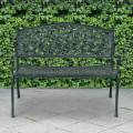"""40"""" Outdoor Aluminum Antique Garden Patio Bench"""