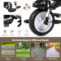 6-in-1 Detachable Kids Baby Stroller Tricycle with Canopy and Safety Harness