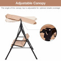 2 Person Weather Resistant Canopy Swing for Porch Garden Backyard Lawn