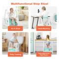 Kids Step Stool Learning Helper with Armrest for Kitchen Toilet Potty Training