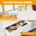 6-Drawer Freestanding Storage Cabinet with Metal Handles