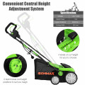 13 Amp Corded Scarifier 15'' Electric Lawn Dethatcher with Dual Safety Switch