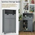 Bathroom Wooden Side Cabinet  with 2 Drawers and 2 Doors