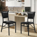 Set of 2 Metal Folding Chair Dining Chairs