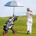 Foldable 3 Wheels Push Pull Golf Trolley with Scoreboard Bag